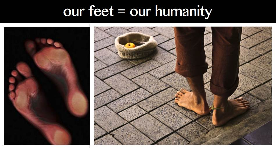 our feet humanity