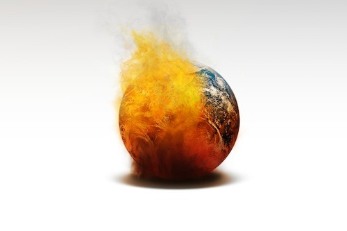 A-Globe-On-Fire